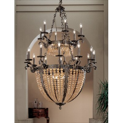 Merlot 27-Light Crystal Chandelier