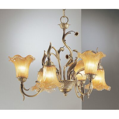 Venezia Up and Down 6-Light Shaded Chandelier