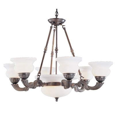Barrington 10-Light Shaded Chandelier Finish: Bronze Oxide