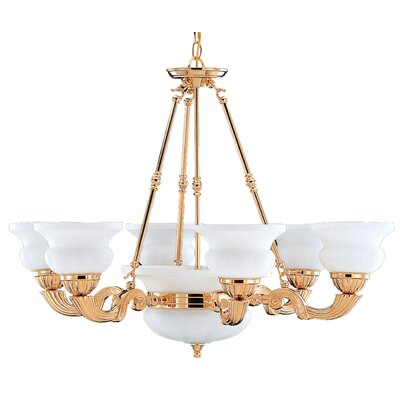 Barrington 10-Light Shaded Chandelier Finish: Gold