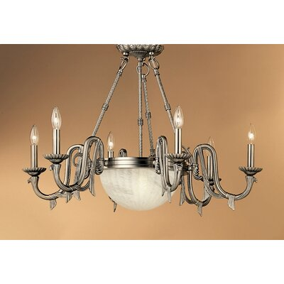 St. Moritz 8-Light Candle-Style Chandelier Finish: Pewter