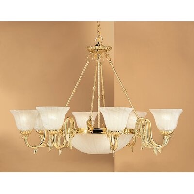 St. Moritz 11-Light Shaded Chandelier Finish: Gold