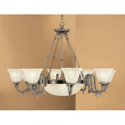 St. Moritz 11-Light Shaded Chandelier Finish: Pewter
