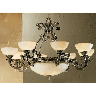 Montego Bay 12-Light Shaded Chandelier Finish: Roman Bronze