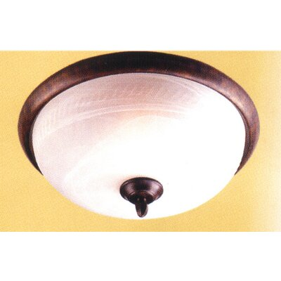 3-Light Semi-Flush Mount Finish: Sand White