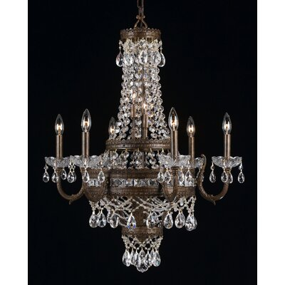 Contessa 12-Light Crystal Chandelier Finish: English Bronze
