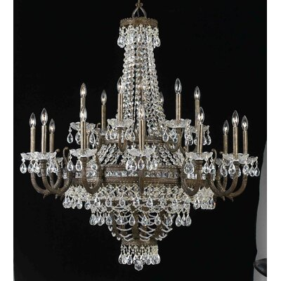 Contessa 27-Light Crystal Chandelier Finish: English Bronze with Gold
