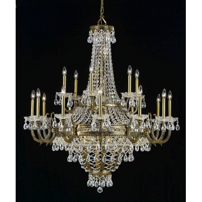 Contessa 27-Light Crystal Chandelier Finish: Rennovation Brass