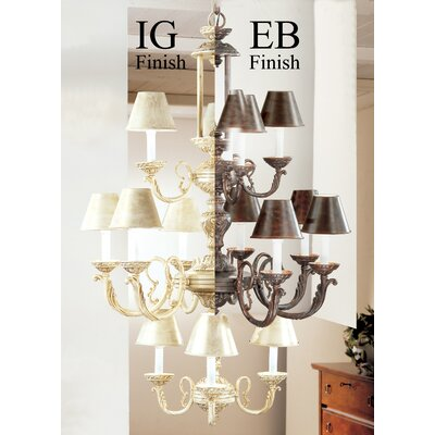 Innsbrook 12-Light Shaded Chandelier Finish: English Bronze