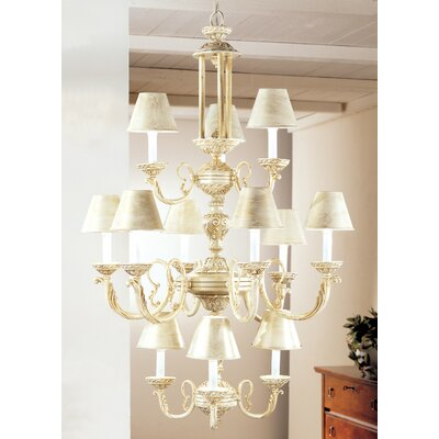 Innsbrook 12-Light Shaded Chandelier Finish: Ivory Gold