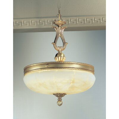 Alexandria II 5-Light Inverted Pendant Finish: Satin Bronze with Brown Patina, Crystal Type: Without Crystal