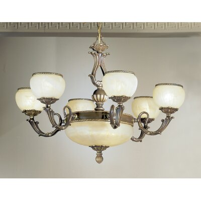 Alexandria II 9-Light Shaded Chandelier Finish: Satin Bronze with Brown Patina, Crystal Type: Without Crystal
