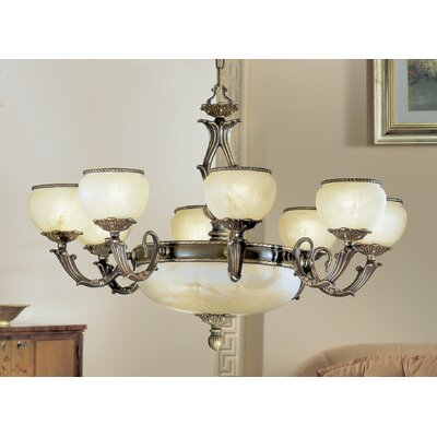 Alexandria II 12-Light Candle-Style Chandelier Finish: Satin Bronze, Crystal Grade: Without Crystal