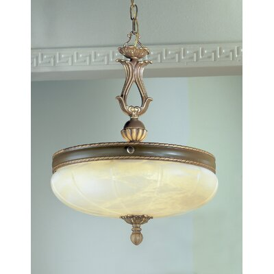 Alexandria I 5-Light Inverted Pendant Finish: Satin Bronze with Brown Patina, Crystal Type: Swarovski Spectra
