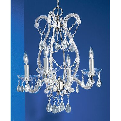 Aurora 4-Light Crystal Chandelier Finish: Chrome, Crystal Type: Crystalique