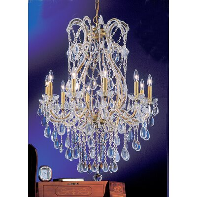 Tivoli 10-Light Crystal Chandelier Finish: Olde Gold