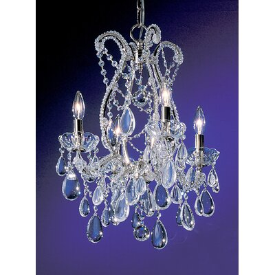 Tivoli 4-Light Crystal Chandelier Finish: Chrome