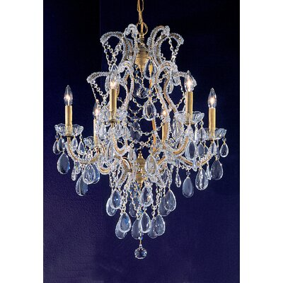 Tivoli 6-Light Crystal Chandelier Finish: Olde Gold