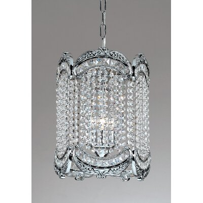 Emily 1-Light Crystal Pendant Finish: Chrome, Crystal Type: Crystalique-Plus