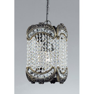 Emily 1-Light Crystal Pendant Crystal Type: Swarovski Elements, Finish: Roman Bronze