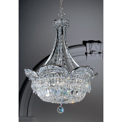 Emily 6-Light Inverted Pendant Crystal Type: Crystalique-Plus, Finish: Roman Bronze