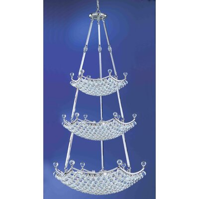 Solitaire 57-Light Crystal Chandelier Crystal Type: Crystalique-Plus
