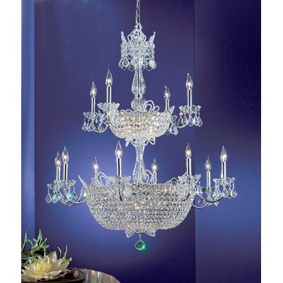 Crown Jewels 32-Light Crystal Chandelier Crystal Type: Swarovski Elements, Finish: Gold Plated