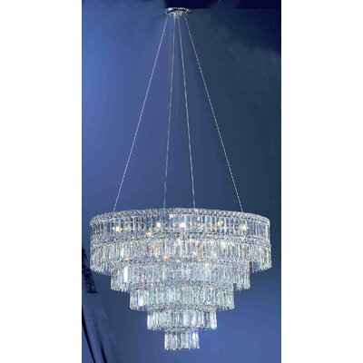 Sofia 11-Light Crystal Chandelier Crystal Type: Blue