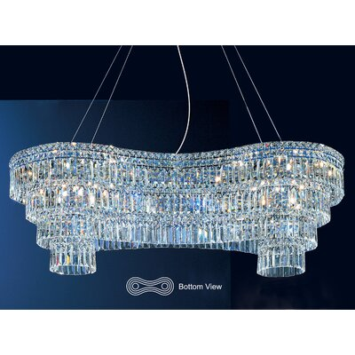 Sofia 22-Light Kitchen Island Pendant Crystal: Red