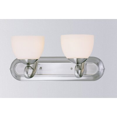 Odyssey 2-Light Vanity Light Finish: Brushed Nickel