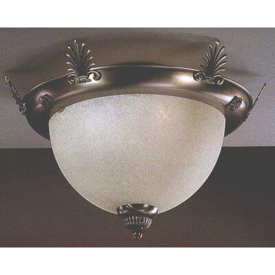 French Horn 2-Light Semi-Flush Mount