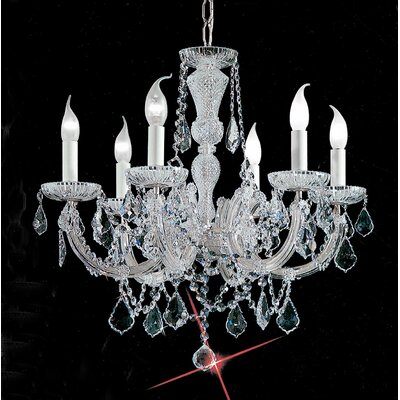 Maria Thersea 6-Light Crystal Chandelier Finish: Chrome, Crystal Type: Crystalique
