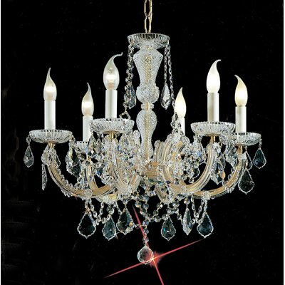 Maria Thersea 6-Light Crystal Chandelier Crystal Type: Crystalique, Finish: Olde World Gold