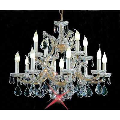 Maria Thersea 13-Light Crystal Chandelier Finish: Chrome, Crystal Type: Swarovski Elements