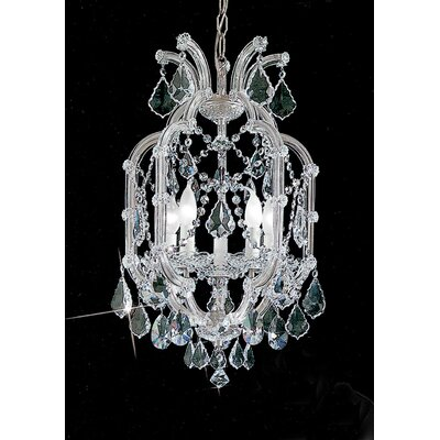 Maria Thersea 5-Light Crystal Chandelier Finish: Chrome, Crystal Type: Crystalique