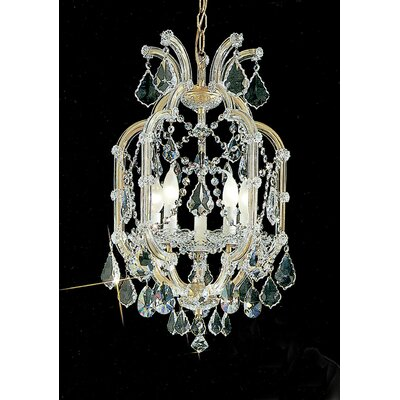 Maria Thersea 5-Light Crystal Chandelier Crystal Type: Swarovski Spectra, Finish: Olde World Gold