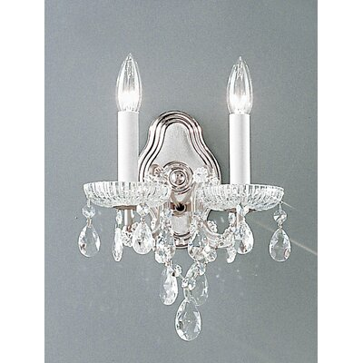 Maria Thersea 2-Light Crystal Chandelier