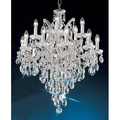 Maria Thersea 16-Light Crystal Chandelier Finish: Chrome, Crystal Type: Crystalique