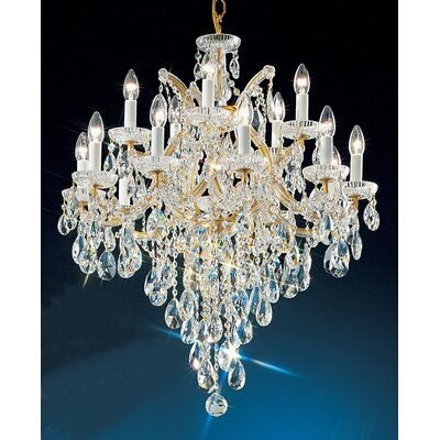 Maria Thersea 16-Light Crystal Chandelier Crystal Type: Swarovski Spectra, Finish: Olde World Gold