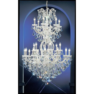 Maria Thersea 25-Light Crystal Chandelier Crystal Type: Swarovski Elements, Finish: Olde World Gold