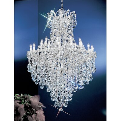 Maria Thersea 31-Light Crystal Chandelier Finish: Chrome, Crystal Type: Crystalique