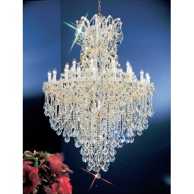 Maria Thersea 31-Light Crystal Chandelier Finish: Chrome, Crystal Type: Swarovski Spectra