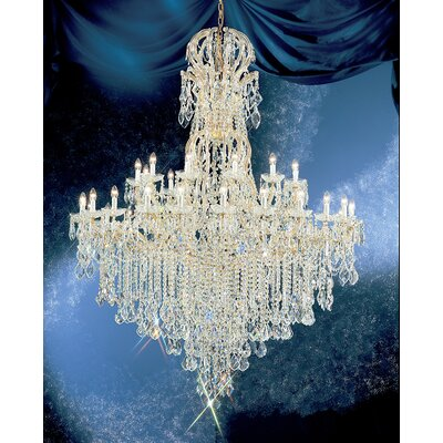 Maria Thersea 37-Light Crystal Chandelier Finish: Chrome, Crystal Type: Swarovski Elements