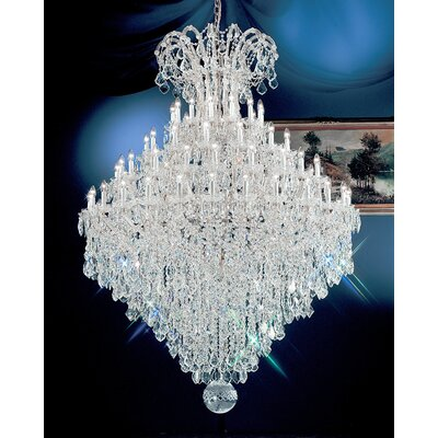 Maria Thersea 84-Light Crystal Chandelier Finish: Chrome, Crystal Type: Crystalique