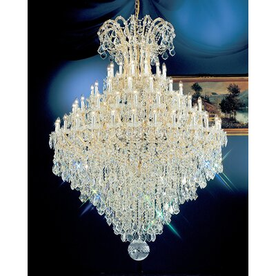 Maria Thersea 84-Light Crystal Chandelier Finish: Olde World Gold, Crystal Type: Swarovski Elements