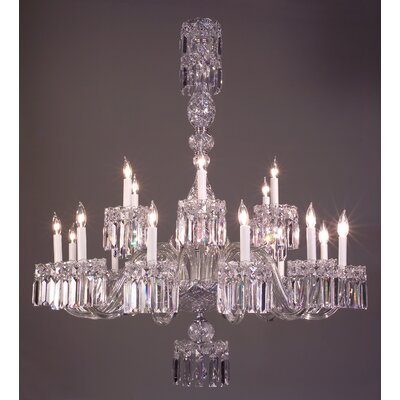 Buckingham 18-Light Crystal Chandelier Crystal Type: Crystalique Black
