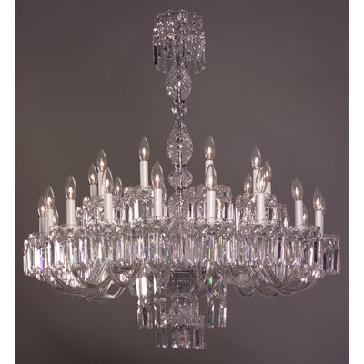 Buckingham 30-Light Crystal Chandelier Crystal Type: Crystalique Black