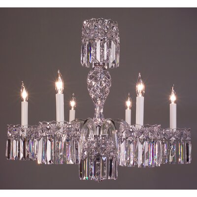 Buckingham 6-Light Crystal Chandelier Crystal Type: Crystalique Black