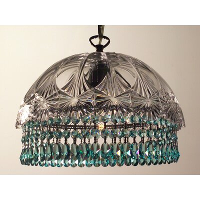 Prague Color 1-Light Bowl Pendant Crystal Type: Crystalique Antique Green