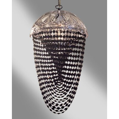 Prague Color 1-Light Bowl Pendant Crystal Type: Crystalique Black